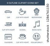9 clipart icons. trendy clipart ...   Shutterstock .eps vector #1286761150