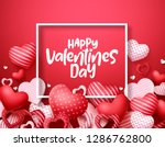 valentines day vector hearts... | Shutterstock .eps vector #1286762800