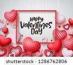 valentines day vector banner...   Shutterstock .eps vector #1286762806