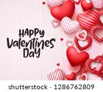 valentines day hearts vector... | Shutterstock .eps vector #1286762809