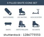 6 skate icons. trendy skate... | Shutterstock .eps vector #1286775553