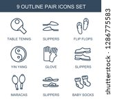 pair icons. trendy 9 pair icons.... | Shutterstock .eps vector #1286775583