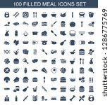 100 meal icons. trendy meal... | Shutterstock .eps vector #1286775769