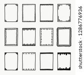 doodle frame collection   Shutterstock .eps vector #1286776936