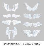 set of beautiful angel wings... | Shutterstock .eps vector #1286777059
