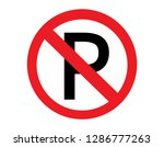 no parking sign icon vector.... | Shutterstock .eps vector #1286777263