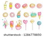 cute funny girl teenager...   Shutterstock .eps vector #1286778850