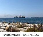 big ships sailing the aegean... | Shutterstock . vector #1286780659
