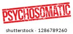 psychosomatic. red rubber stamp. | Shutterstock .eps vector #1286789260