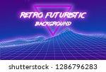 80's retro futuristic... | Shutterstock .eps vector #1286796283