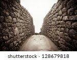 An Old Stone Alley In Machu...