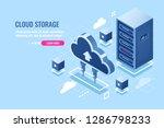 technology of cloud data... | Shutterstock .eps vector #1286798233