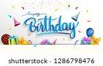 happy birthday typography...   Shutterstock .eps vector #1286798476