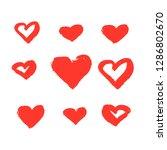 vector hearts set. valentine's... | Shutterstock .eps vector #1286802670