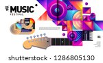 vector colorful music festival... | Shutterstock .eps vector #1286805130