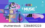 vector colorful music festival... | Shutterstock .eps vector #1286805223