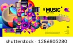 vector colorful music festival... | Shutterstock .eps vector #1286805280