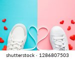 heart created from white... | Shutterstock . vector #1286807503