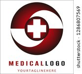medical logo design vector eps10 | Shutterstock .eps vector #1286807569