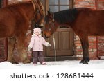 Little Girl And Two Horses...