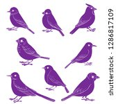 vector set of birds silhouettes ... | Shutterstock .eps vector #1286817109