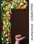 fresh raw vegetables in chunks... | Shutterstock . vector #1286819950