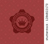 queen crown icon inside red... | Shutterstock .eps vector #1286822173