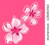 spring cherry blossoms vector... | Shutterstock .eps vector #128682563