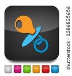 vector child pacifier symbol ... | Shutterstock .eps vector #1286825656