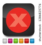 delete icon   no sign  close... | Shutterstock .eps vector #1286825776