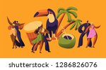brazilian samba carnival dancer ... | Shutterstock .eps vector #1286826076