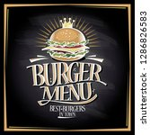 burger menu chalkboard concept  ... | Shutterstock .eps vector #1286826583