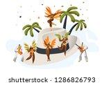 brazilian samba carnival latino ...   Shutterstock .eps vector #1286826793
