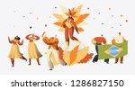 brazil carnival samba dancer... | Shutterstock .eps vector #1286827150