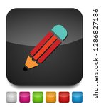 pencil icon isolated  pencil... | Shutterstock .eps vector #1286827186