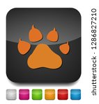 Stock vector pets icon vector paw print animal illustration pet symbol 1286827210