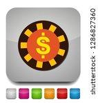 vector casino chips  casino... | Shutterstock .eps vector #1286827360