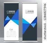 roll up business brochure flyer ... | Shutterstock .eps vector #1286827546