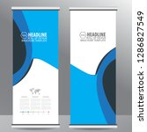 roll up business brochure flyer ... | Shutterstock .eps vector #1286827549
