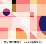 abstract geometry pattern... | Shutterstock . vector #1286828980