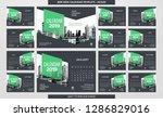 desk calendar 2019 template  ... | Shutterstock .eps vector #1286829016
