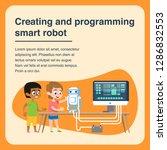 children creating and... | Shutterstock .eps vector #1286832553