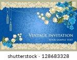 luxurious background in vintage ... | Shutterstock .eps vector #128683328