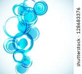 abstract background with blue... | Shutterstock .eps vector #128683376