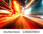 abstract motion blur in city | Shutterstock . vector #1286834833
