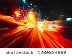 abstract motion blur in city | Shutterstock . vector #1286834869