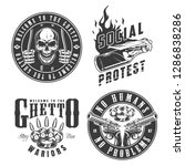 set of gangster emblems in... | Shutterstock . vector #1286838286