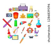 original icons set. cartoon set ...   Shutterstock .eps vector #1286839396