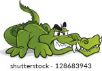 cartoon crocodile with big teeth | Shutterstock .eps vector #128683943