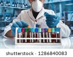 doctor working with blood... | Shutterstock . vector #1286840083